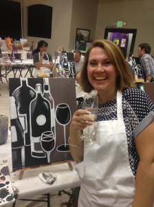 Wine whilst painting...